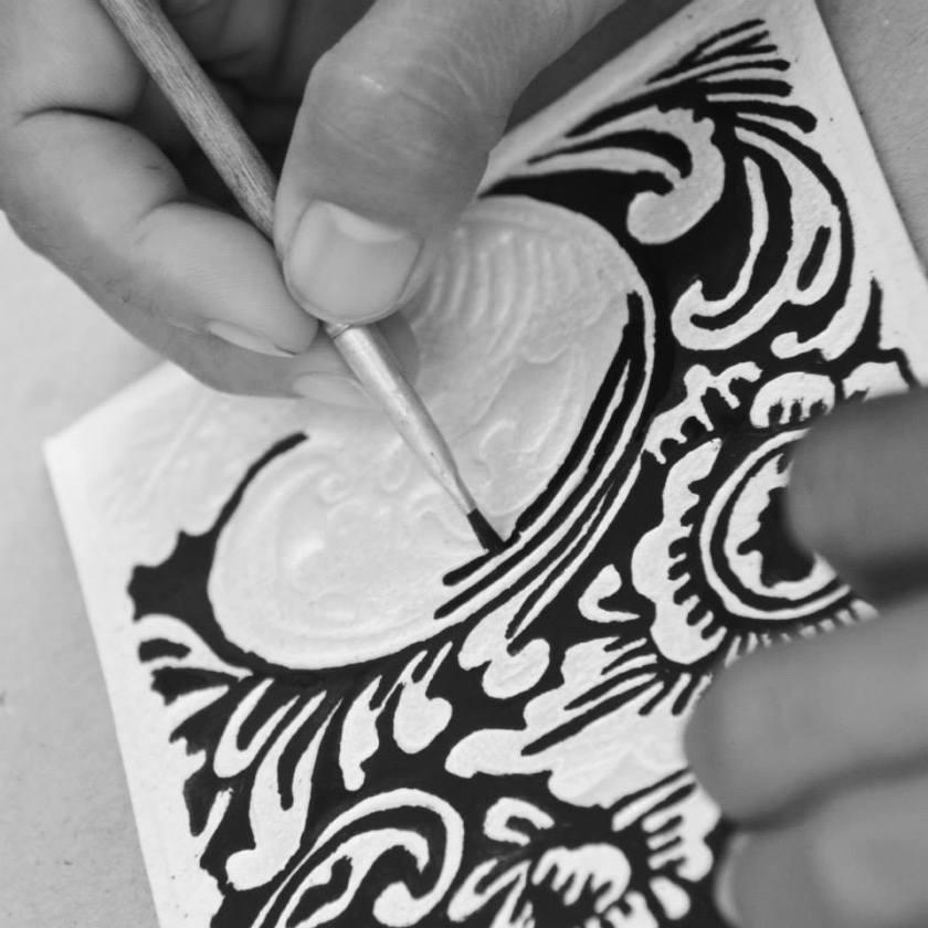 peinture papier Bali