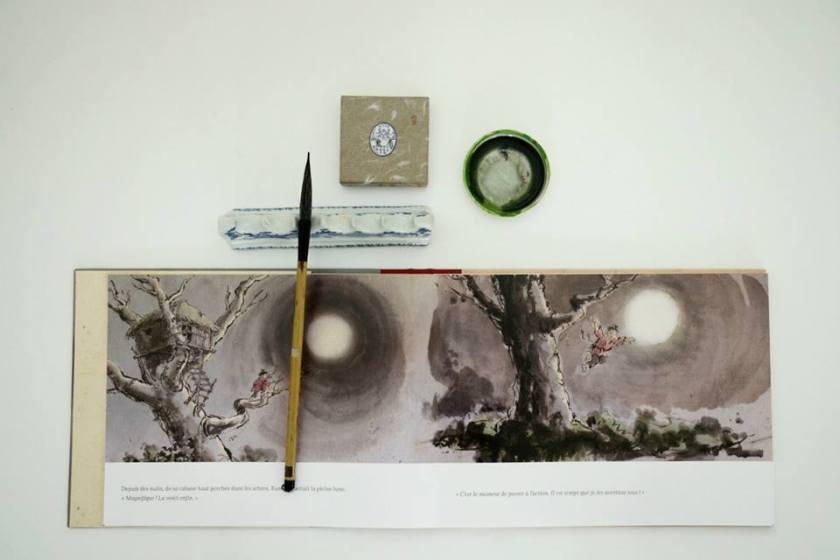 Eclat de lune calligraphy